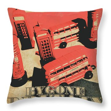 Bygone Britain 1983 Throw Pillow