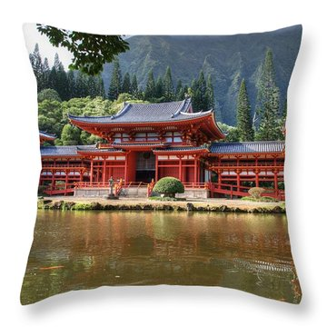 Byodo-in Throw Pillow