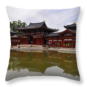 Byodoin Temple Throw Pillow