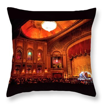 Byrd Theatre Organist II Throw Pillow