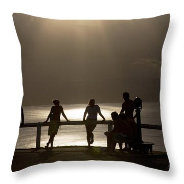 Byron Bay Lighthouse Throw Pillow by Avalon Fine Art Photography