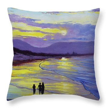 Byron Bay Sunset Throw Pillow