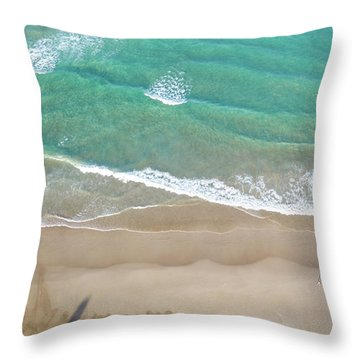 Throw Pillow featuring the photograph Byron Beach Life by Chris Cousins