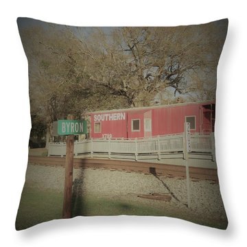 Throw Pillow featuring the photograph Byron Town By The Tracks by Aaron Martens
