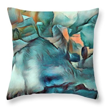 Byzantine Abstraction Throw Pillow