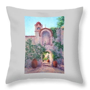 Byzantine Archway Throw Pillow by Jill Musser