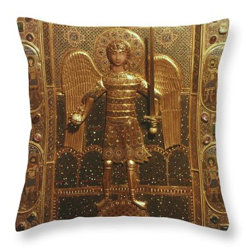 Byzantine Art: St. Michael Throw Pillow by Granger