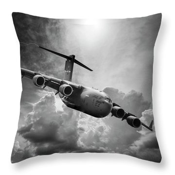 C-17 Globemaster Throw Pillow