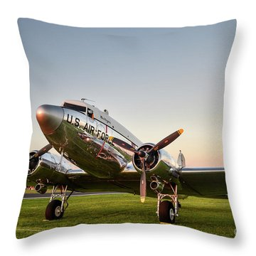C-47 At Dusk Throw Pillow