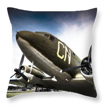 C-47d Skytrain Throw Pillow