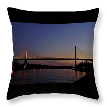 C And D Canal Bridge Throw Pillow