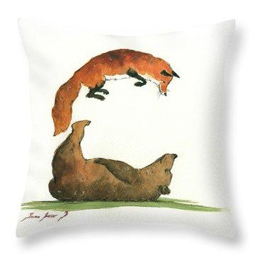 C Letter Throw Pillow