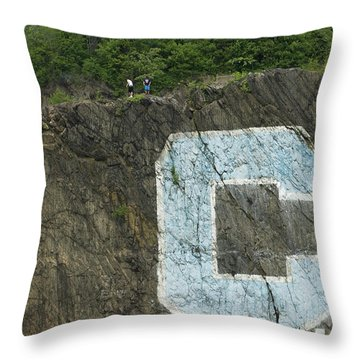 C Rock Of Columbia University Throw Pillow