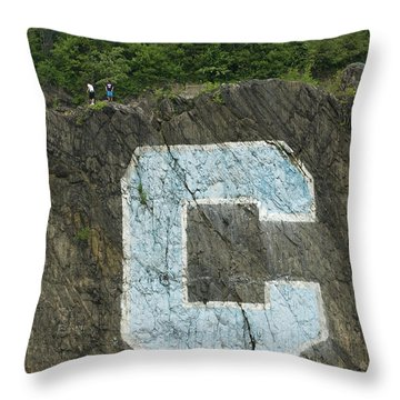 Throw Pillow featuring the photograph C Rock Of Columbia University by Jose Rojas