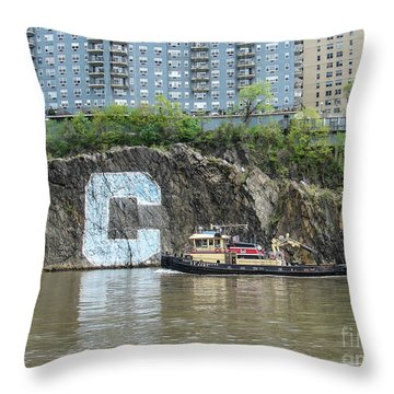 C Rock With Tug Throw Pillow