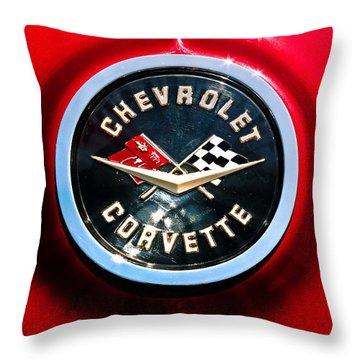 C2 Corvette Logo Throw Pillow by Scott Wyatt