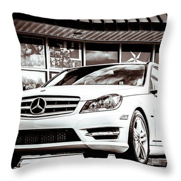 C250 In Black And White Throw Pillow