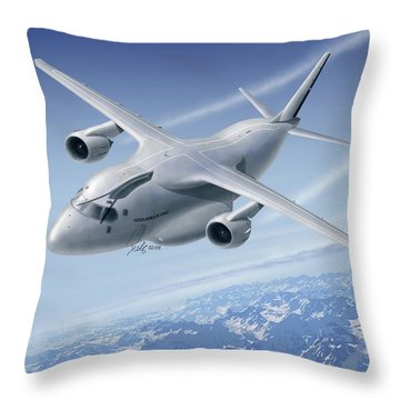 C390 Throw Pillow by Daniel Uhr