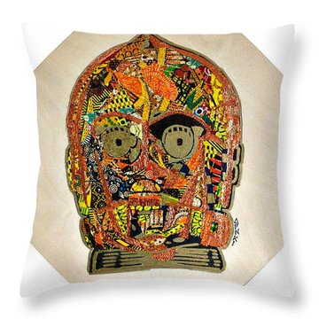 C3po Star Wars Afrofuturist Collection Throw Pillow