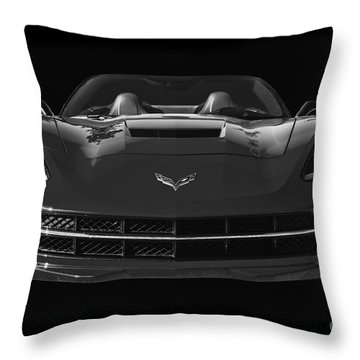 C7 Stingray Corvette Throw Pillow by Dennis Hedberg