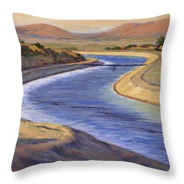 Ca Aqueduct 2 Throw Pillow by Jane Thorpe