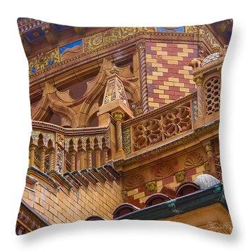 Ca' D'zan Detail Throw Pillow by Susan Molnar
