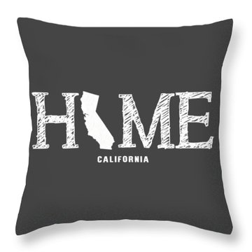 Throw Pillow featuring the mixed media Ca Home by Nancy Ingersoll