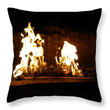 Cabana Fire  Throw Pillow