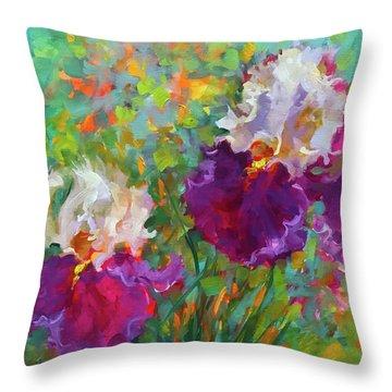 Cabaret Dancer Iris Garden Throw Pillow