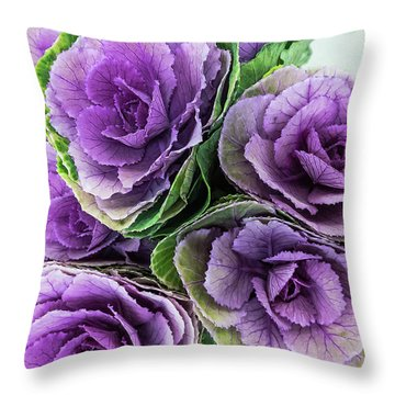 Cabbage Flower Throw Pillow