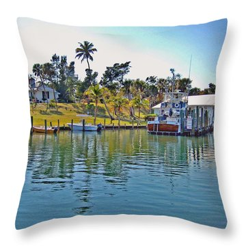 Cabbage Key Throw Pillow