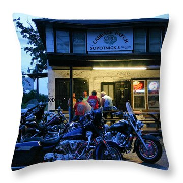 Cabbage Patch Bikers Bar Throw Pillow