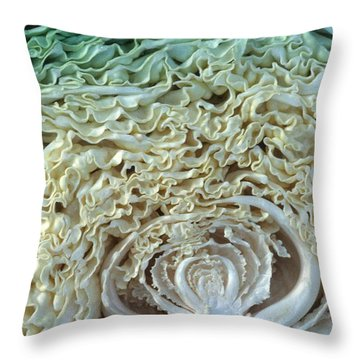 Cabbage Universe Throw Pillow by Laurie Paci