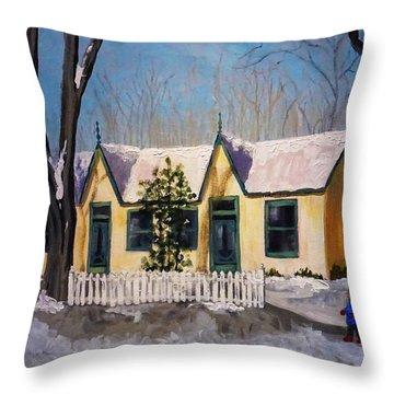 Cabbagetown Christmas Throw Pillow