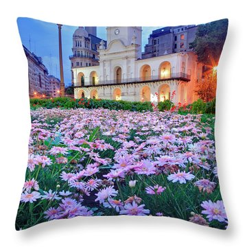 Throw Pillow featuring the photograph Cabildo De Buenos Aires by Bernardo Galmarini