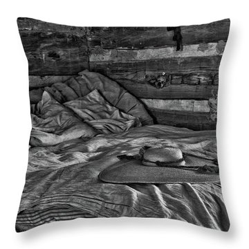 Cabin Bed Throw Pillow