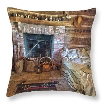 Cabin Bedroom Throw Pillow