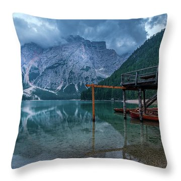 Cabin By The Lake Throw Pillow