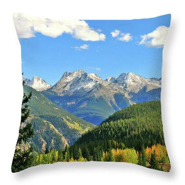 Cabin In The San Juans Throw Pillow by Scott Mahon