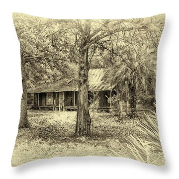 Throw Pillow featuring the photograph Cabin In The Woods by Louis Ferreira