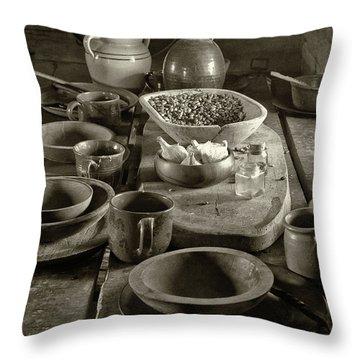 Cabin Kitchen Table Throw Pillow