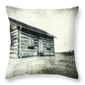 Throw Pillow featuring the photograph Cabin Near Paradise Springs - Kettle Moraine State Forest by Jennifer Rondinelli Reilly - Fine Art Photography