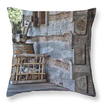 Cabin Porch1 Throw Pillow