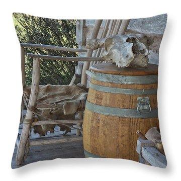 Cabin Porch2 Throw Pillow