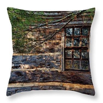 Cabin Window Throw Pillow by Joanne Coyle