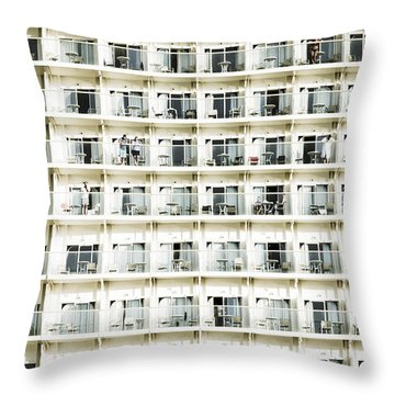 Cabins And Deck Throw Pillow