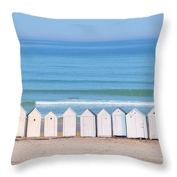Throw Pillow featuring the photograph Cabins by Delphimages Photo Creations