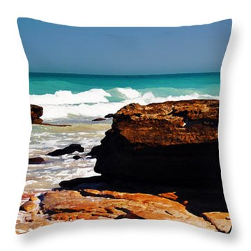 Cable Beach Broome Throw Pillow by Phill Petrovic