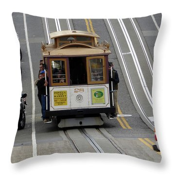 Throw Pillow featuring the photograph Cable Car by Steven Spak