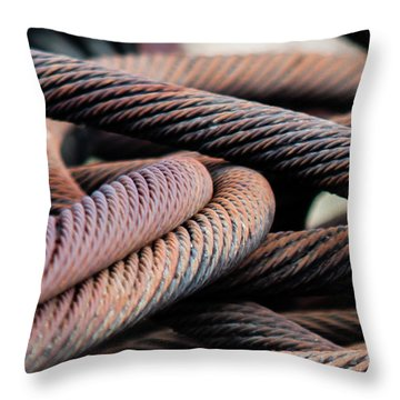 Cable Chaos Throw Pillow